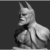 Small Batman Real Face 3D Printing 251770