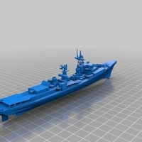 Small War Battle Ship Kanin Class Destroyer 3D Printing 251788