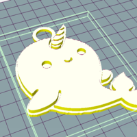 Small Whale Unicorn 3D Printing 251810