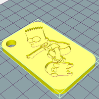 Small Bart Simpson Keychain 3D Printing 251818
