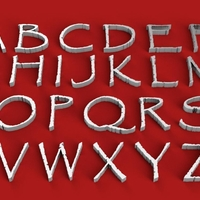 Small PAPYRUS FONT UPPERCASE 3D LETTERS STL FILE 3D Printing 251832