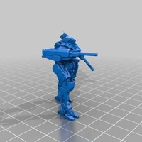 Small Collection MWO Style Lancelot 3D Printing 251872