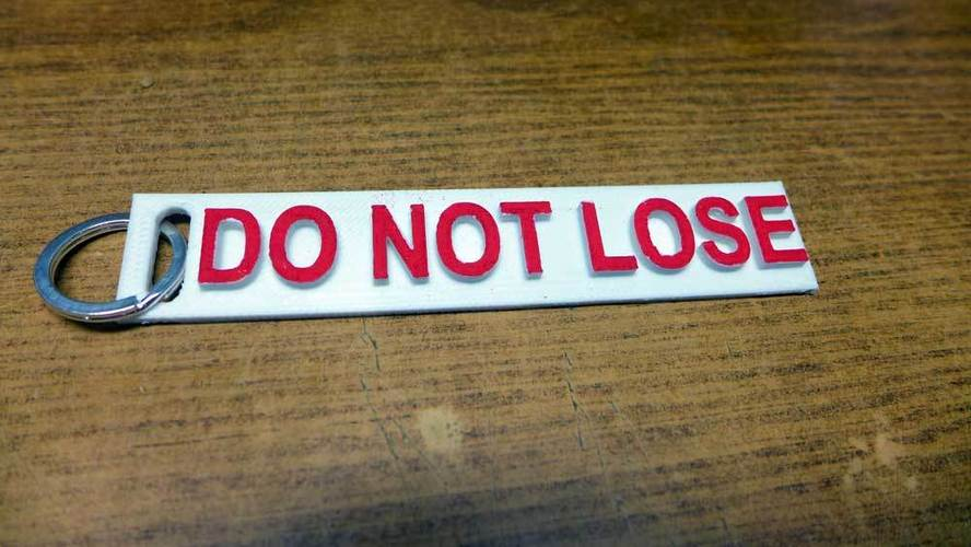 """Do Not Lose"" key fob 3D Print 25188"