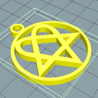 Small Heartagram 3D Printing 251922