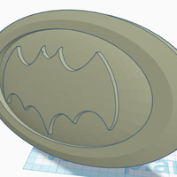 Small Batman Car badge 3D Printing 251995