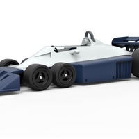 Small Diecast model Tyrrell P34B Formula 1 Scale 1 to 24 3D Printing 252099