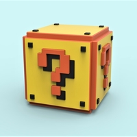 Small Mario Question cube 3D Printing 252267