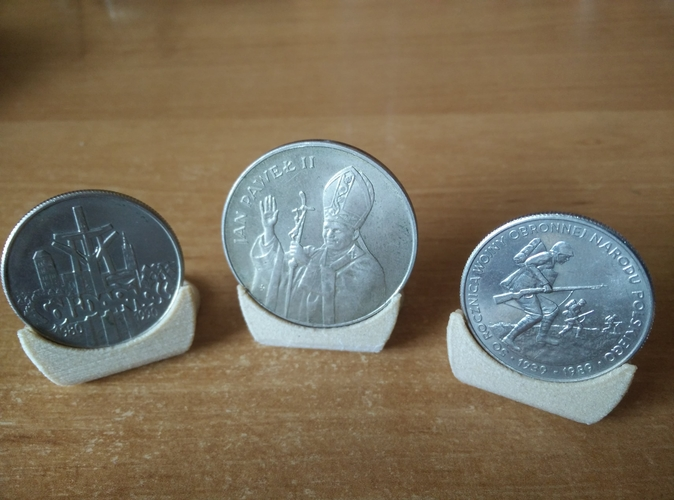 Coin holder diameter 27, 30 and 35 mm 3D Print 252466