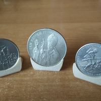Small Coin holder diameter 27, 30 and 35 mm 3D Printing 252466