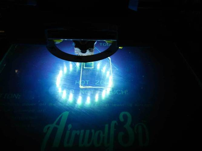 LED mod for AirWolf 3D printer **Budaschnozzle 3D Print 25256