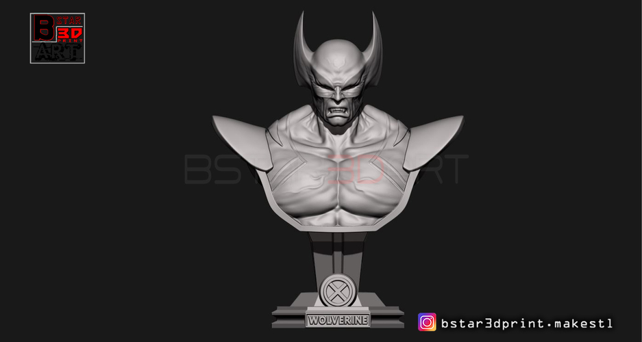 Wolverine Bust - X men - from Marvel 3D Print 252621