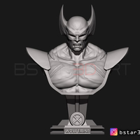 Small Wolverine Bust - X men - from Marvel 3D Printing 252621