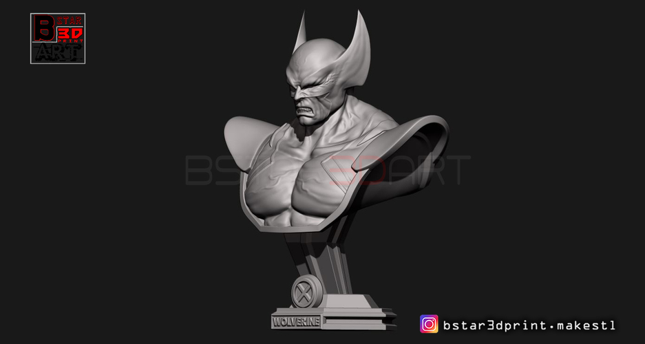 Wolverine Bust - X men - from Marvel 3D Print 252622