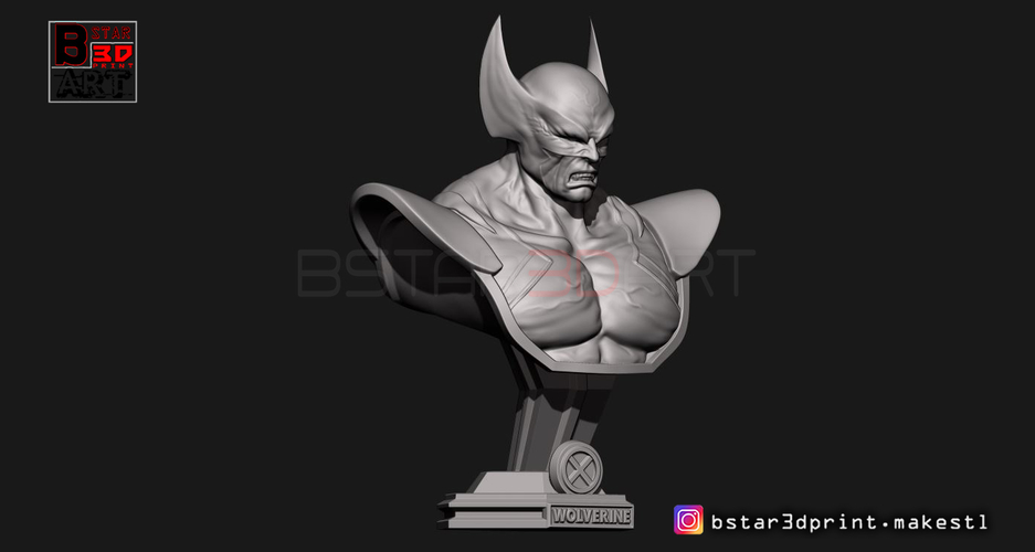 Wolverine Bust - X men - from Marvel 3D Print 252628