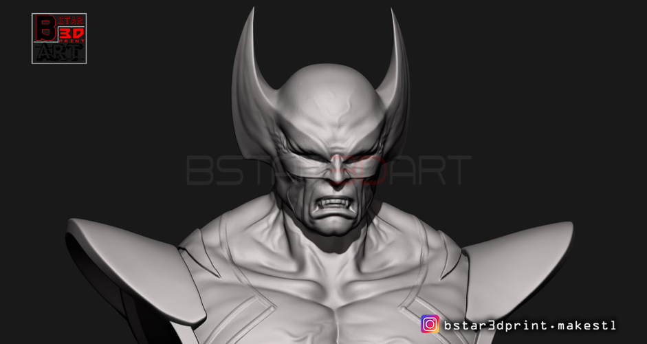 Wolverine Bust - X men - from Marvel 3D Print 252629
