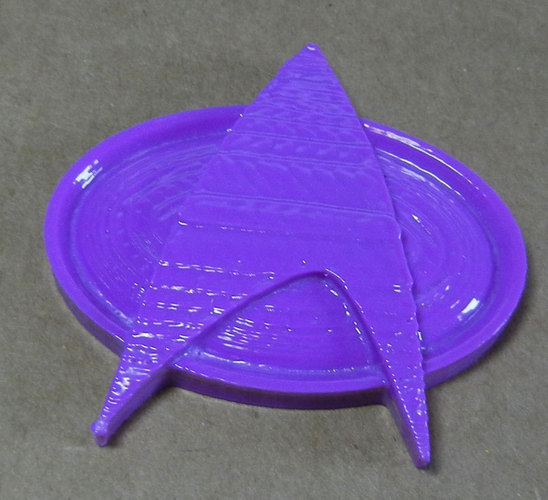 Star Trek Next Generation Communication Badge 3D Print 25264
