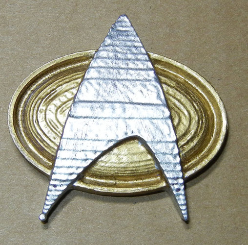 Star Trek Next Generation Communication Badge 3D Print 25265