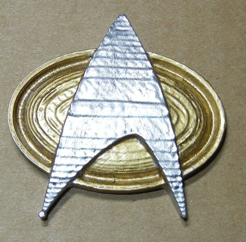 3d printed star trek next generation communication badge by terry morris pinshape