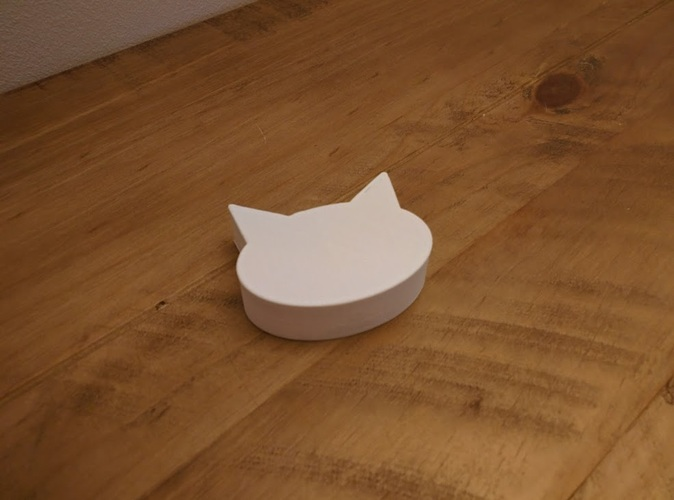 Cat shaped box with divider and small ramp for pills 3D Print 25273