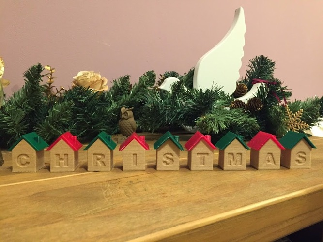 Christmas house blocks 3D Print 25283