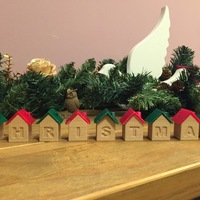 Small Christmas house blocks 3D Printing 25283