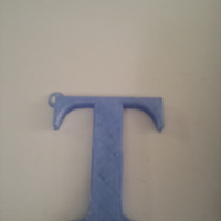Small Letter T keyring 3D Printing 25285