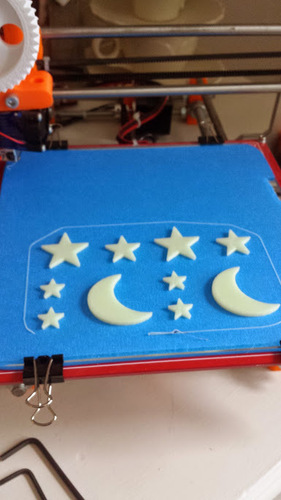 Stars and Moon 3D Print 25286