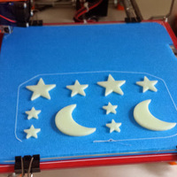 Small Stars and Moon 3D Printing 25286