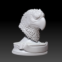 Small Eagle Head Trophy 3D Printing 252970