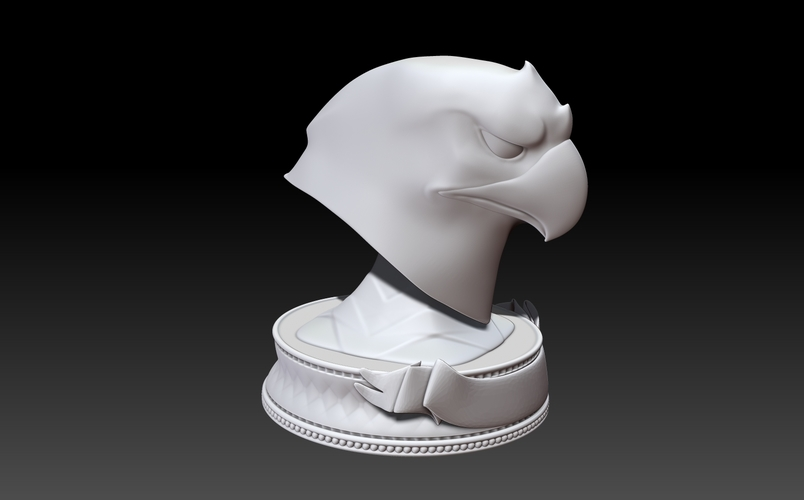 Eagle Head Trophy Original 3D Print 252994