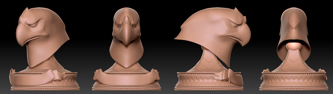 Eagle Head Trophy Original 3D Print 252997