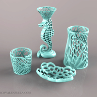 Small Seaside Bathroom Decor Collection 3D Printing 252998
