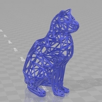 Small 3d cat figure 3D Printing 253037