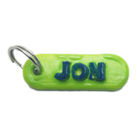 Small JON Personalized keychain embossed letters 3D Printing 253039