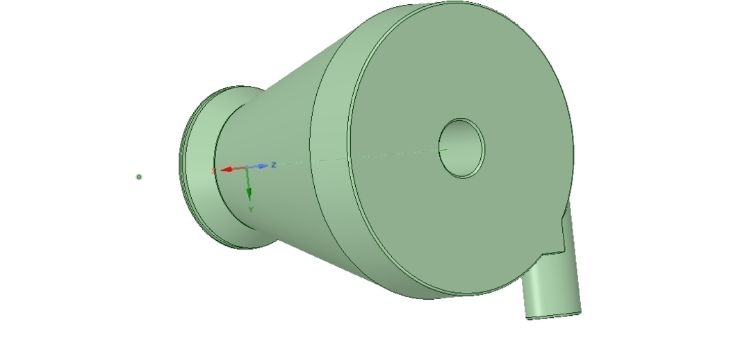 cyclone filter for household vacuum cleaner nozzle v01 3d-print 3D Print 253045