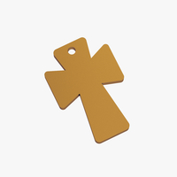 Small Cross pendant 3D Printing 253072