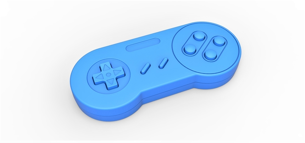 Old school game controller Scale 1 to 2 Keychain 3D Print 253104