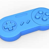 Small Old school game controller Scale 1 to 2 Keychain 3D Printing 253104