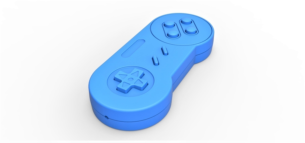 Old school game controller Scale 1 to 2 Keychain 3D Print 253106