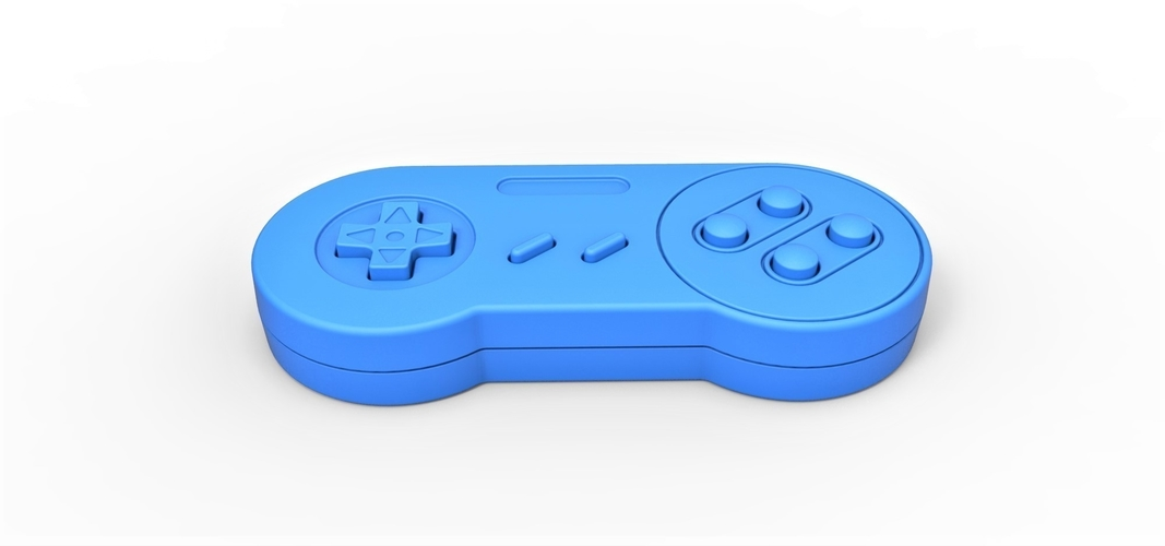 Old school game controller Scale 1 to 2 Keychain 3D Print 253111