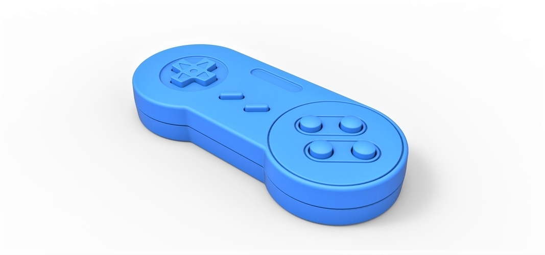 Old school game controller Scale 1 to 2 Keychain 3D Print 253113