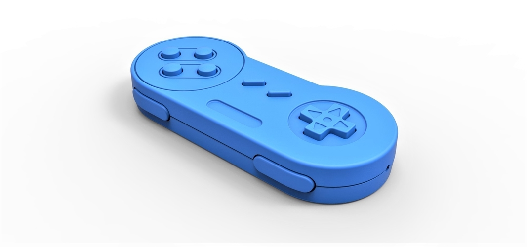 Old school game controller Scale 1 to 2 Keychain 3D Print 253115