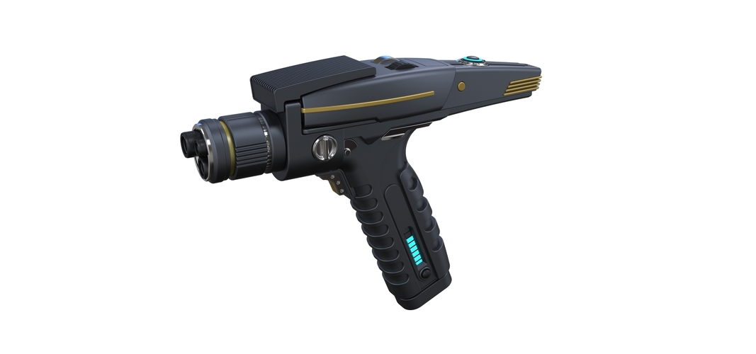 Accurate replica of Phaser pistol 2 from Star Trek Discovery 3D Print 253275