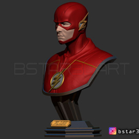 Small The Flash Bust 3D Printing 253316