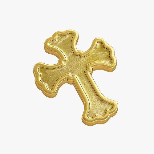 3D Printed Golden Cross By VALIKSTUDIO