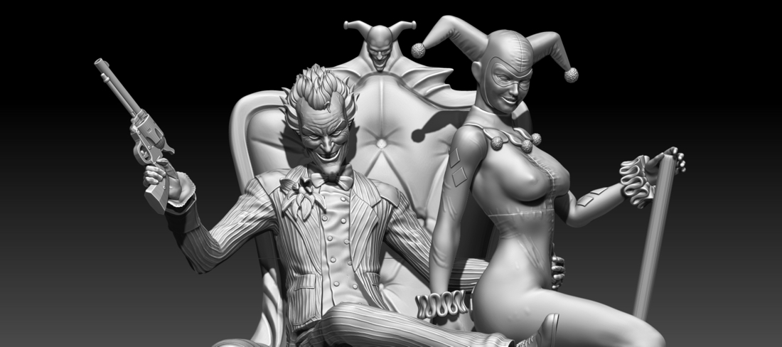 joker and harley quinn 3D Print 253624