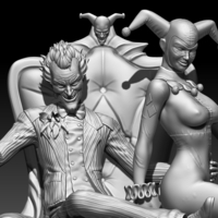 Small joker and harley quinn 3D Printing 253624