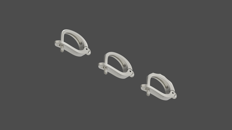 English lock pack for earrings  3D Print 253725