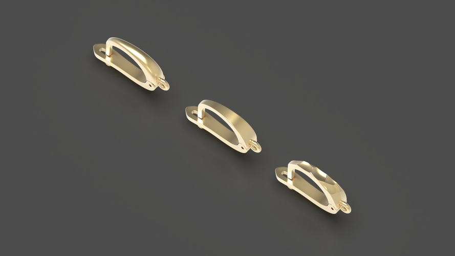 English lock pack for earrings  3D Print 253726