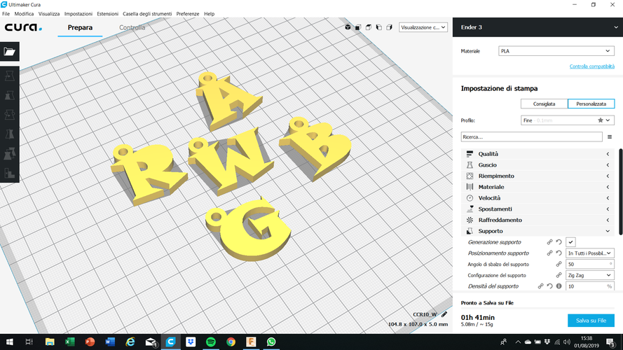 3d letters for keychain and more 3D Print 253751